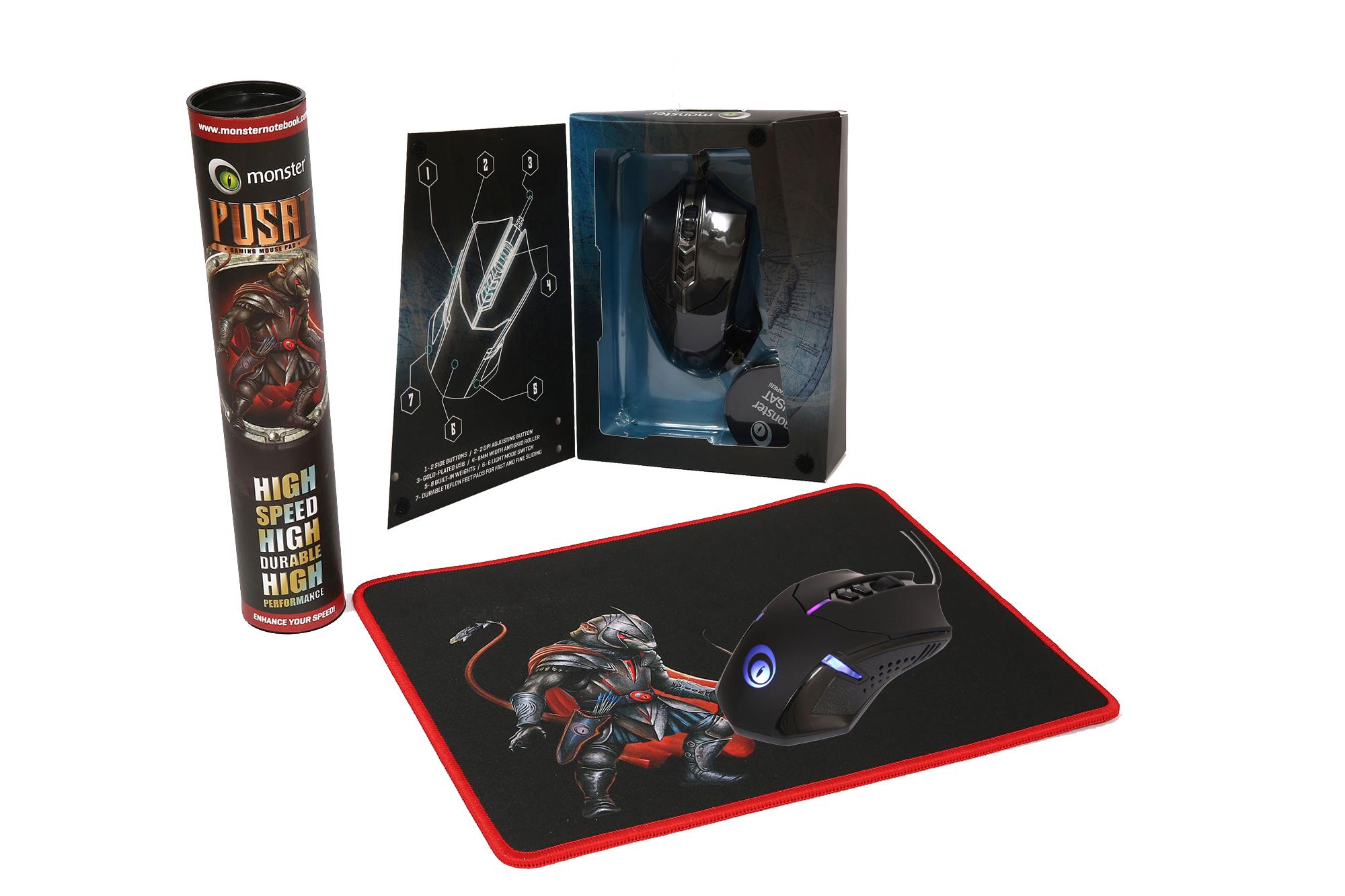 Monster Pusat V1 Gaming Mouse - Pusat Gaming Pad