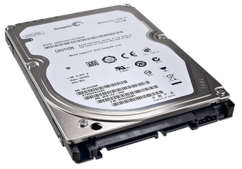 500GB SEAGATE 2.5 7200 RPM SATA 16 MB CACHE ST9500420AS