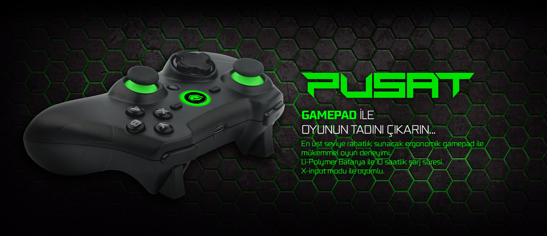 Pusat Pro Gaming Wireless Gamepad Monster Notebook